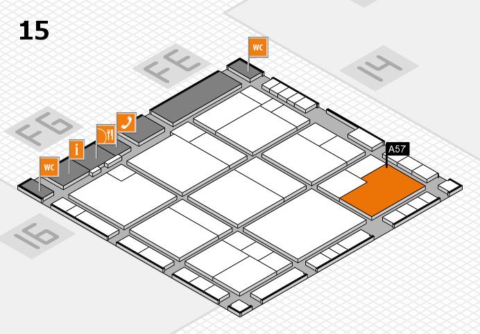 K 2016 hall map (Hall 15): stand A57