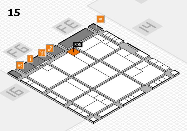 K 2016 hall map (Hall 15): stand B05