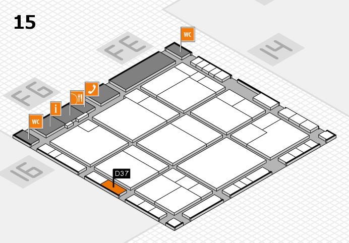 K 2016 hall map (Hall 15): stand D37
