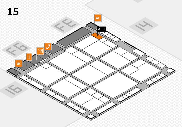 K 2016 hall map (Hall 15): stand A03