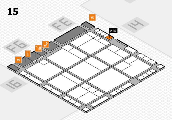 K 2016 Hallenplan (Halle 15): Stand A14