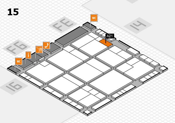 K 2016 hall map (Hall 15): stand A21