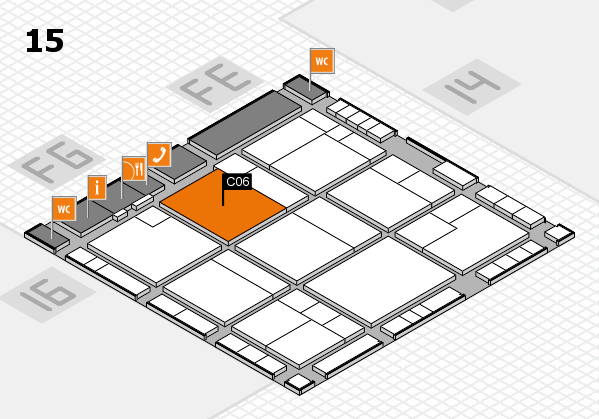 K 2016 hall map (Hall 15): stand C06