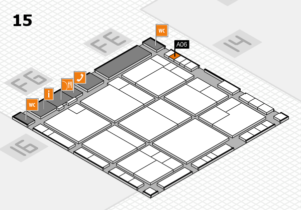 K 2016 hall map (Hall 15): stand A06