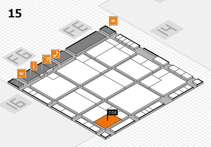 K 2016 hall map (Hall 15): stand D58