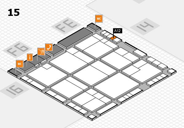 K 2016 hall map (Hall 15): stand A12