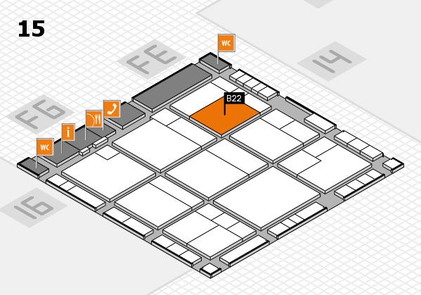 K 2016 Hallenplan (Halle 15): Stand B22