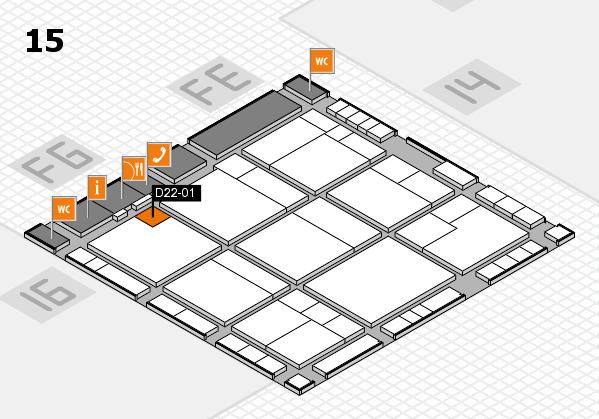 K 2016 hall map (Hall 15): stand D22-01