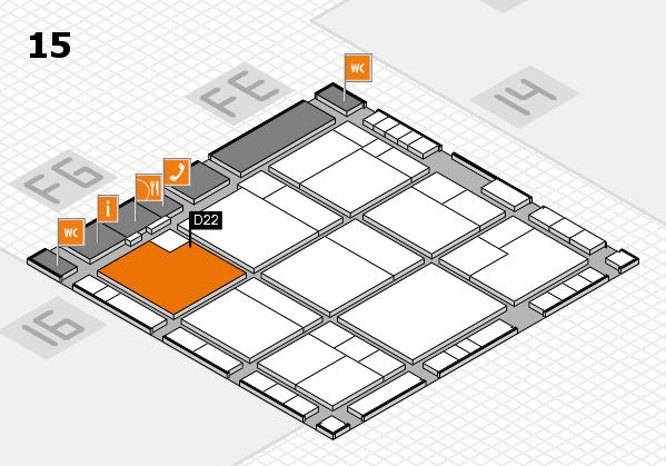 K 2016 hall map (Hall 15): stand D22