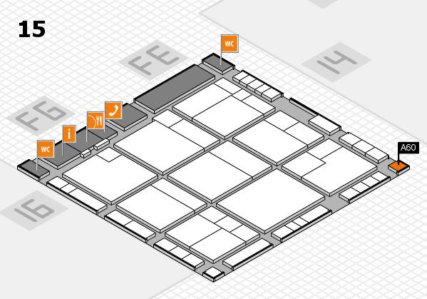 K 2016 hall map (Hall 15): stand A60