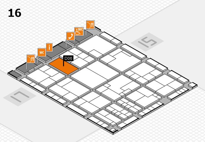 K 2016 hall map (Hall 16): stand D06