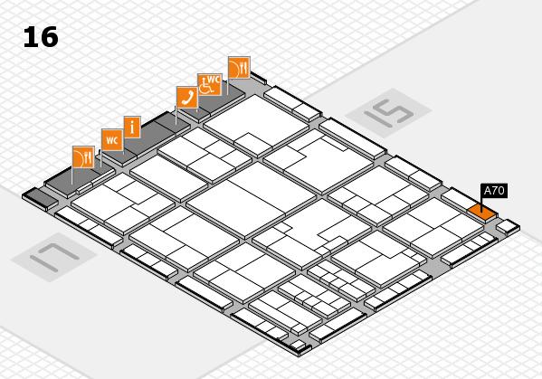 K 2016 Hallenplan (Halle 16): Stand A70