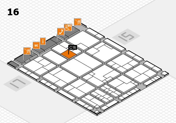 K 2016 hall map (Hall 16): stand C18
