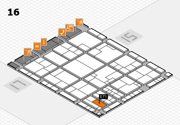 K 2016 Hallenplan (Halle 16): Stand E71