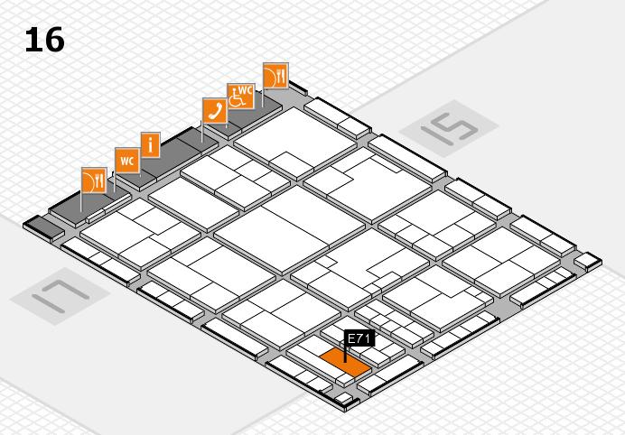 K 2016 hall map (Hall 16): stand E71