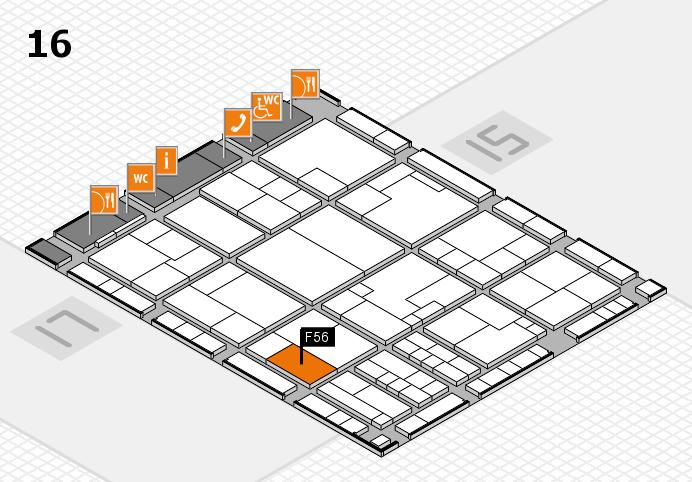 K 2016 hall map (Hall 16): stand F56