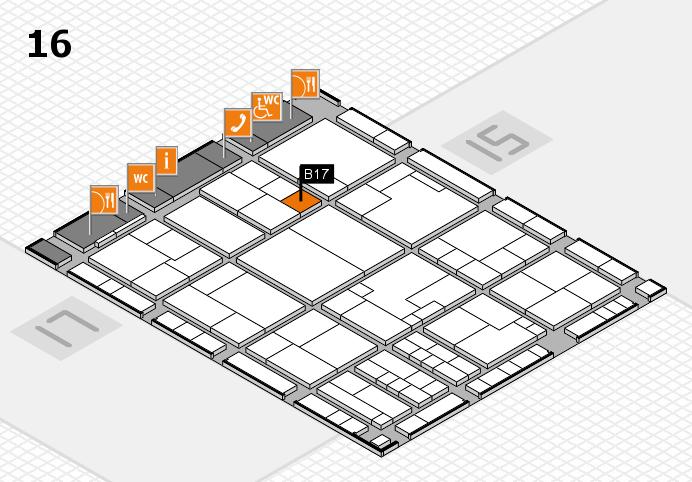 K 2016 Hallenplan (Halle 16): Stand B17