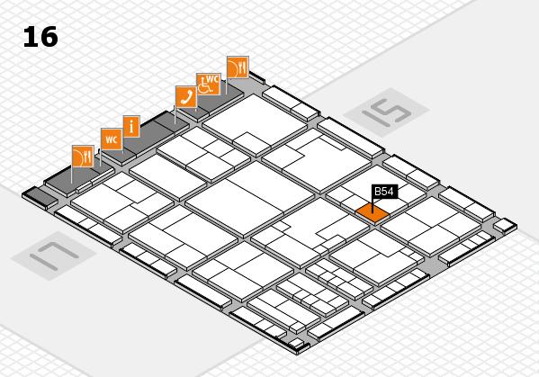 K 2016 Hallenplan (Halle 16): Stand B54
