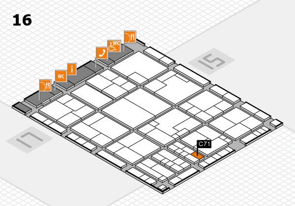 K 2016 hall map (Hall 16): stand C71
