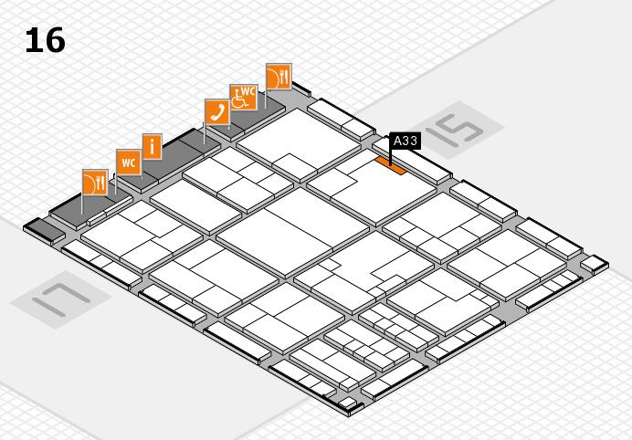 K 2016 Hallenplan (Halle 16): Stand A33