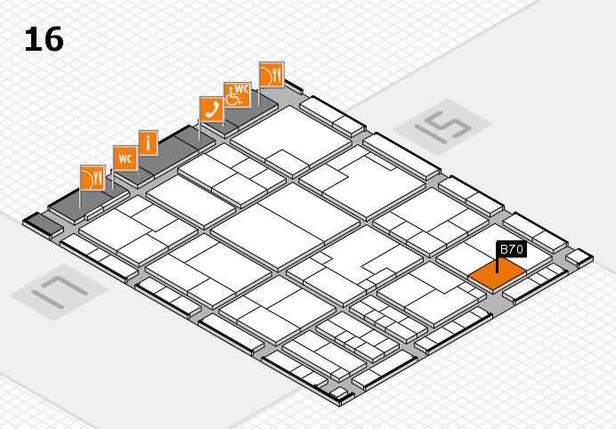 K 2016 Hallenplan (Halle 16): Stand B70