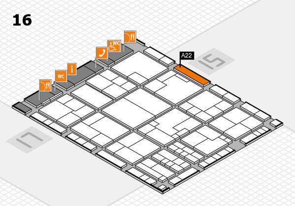 K 2016 Hallenplan (Halle 16): Stand A22