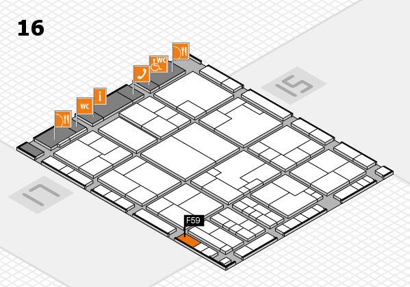 K 2016 hall map (Hall 16): stand F59