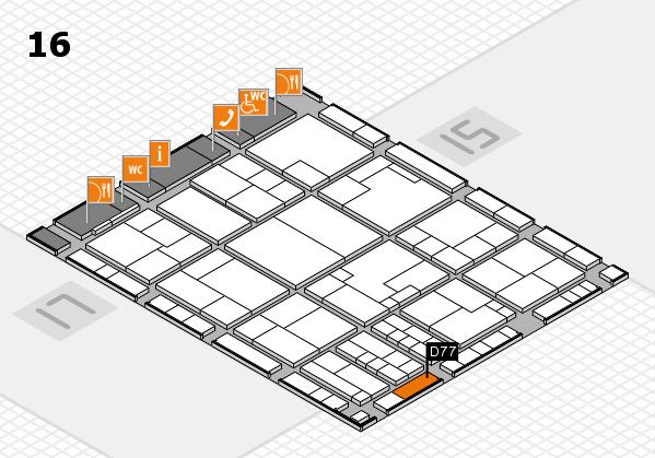 K 2016 Hallenplan (Halle 16): Stand D77