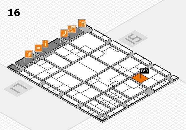 K 2016 hall map (Hall 16): stand B60