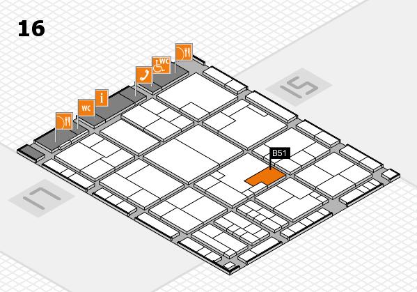 K 2016 Hallenplan (Halle 16): Stand B51