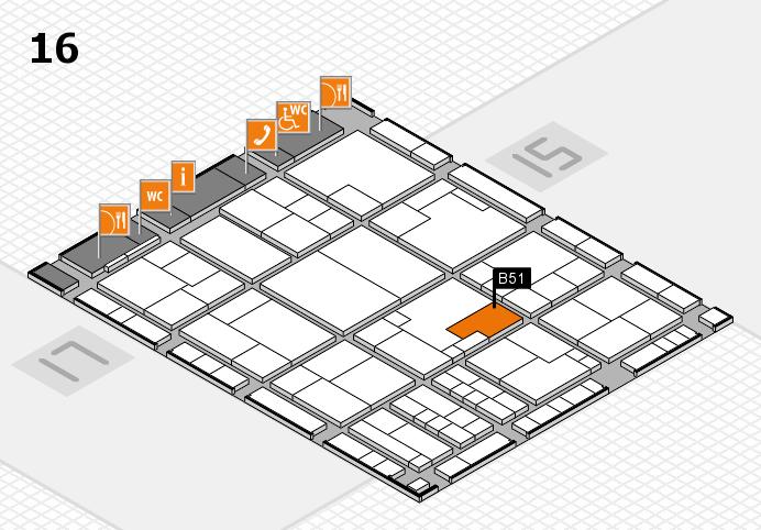 K 2016 hall map (Hall 16): stand B51