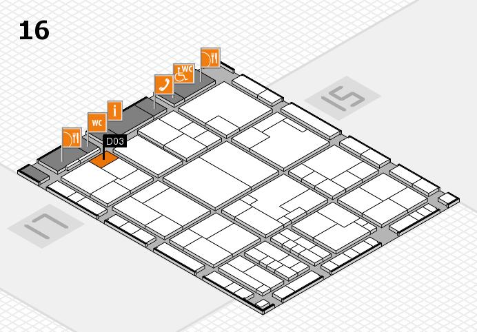 K 2016 hall map (Hall 16): stand D03