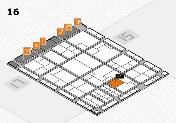 K 2016 hall map (Hall 16): stand C60