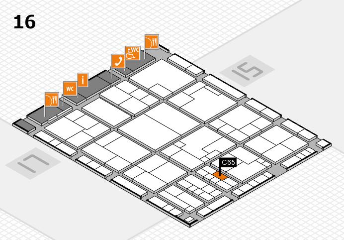 K 2016 hall map (Hall 16): stand C65
