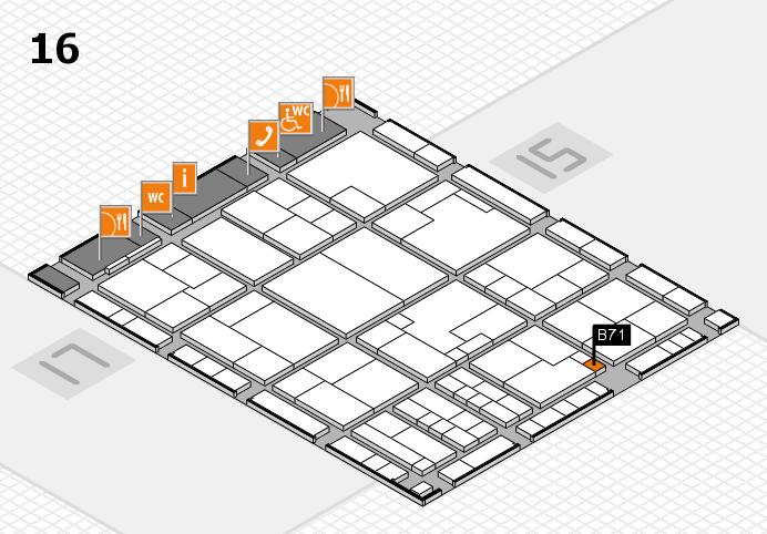 K 2016 Hallenplan (Halle 16): Stand B71
