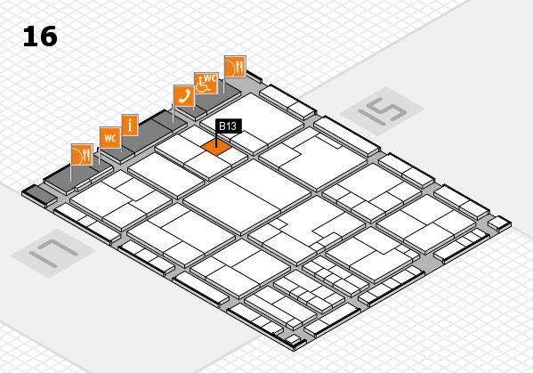 K 2016 Hallenplan (Halle 16): Stand B13