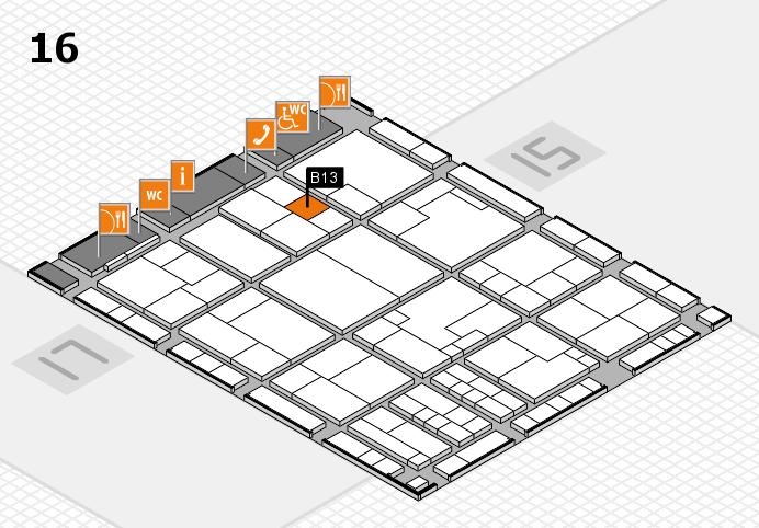 K 2016 hall map (Hall 16): stand B13