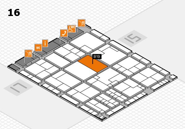 K 2016 Hallenplan (Halle 16): Stand B19