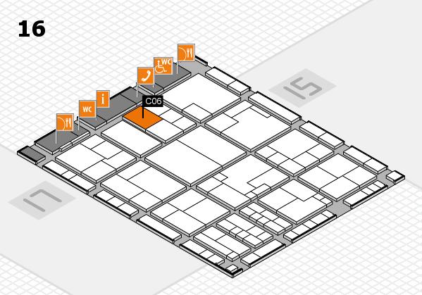 K 2016 hall map (Hall 16): stand C06