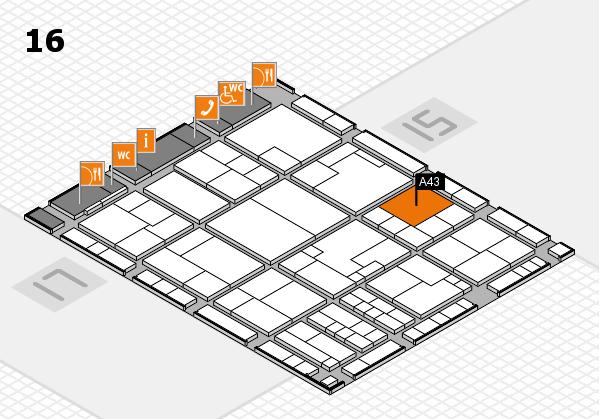 K 2016 Hallenplan (Halle 16): Stand A43