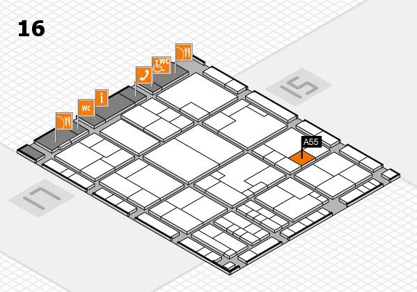K 2016 Hallenplan (Halle 16): Stand A55
