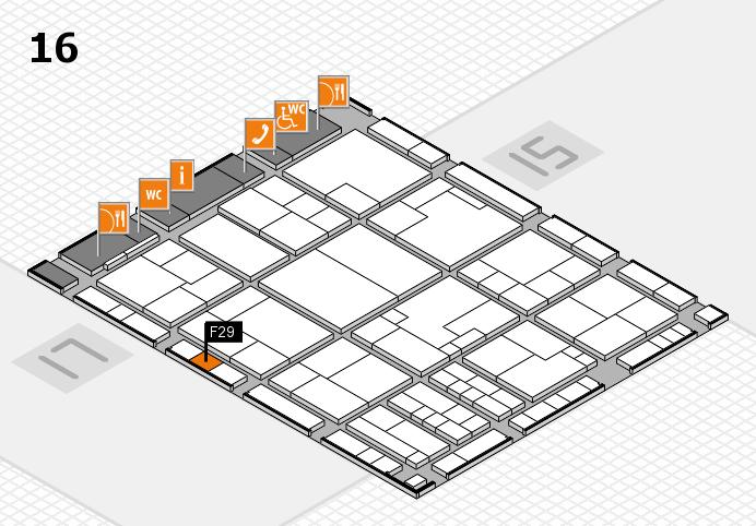 K 2016 hall map (Hall 16): stand F29