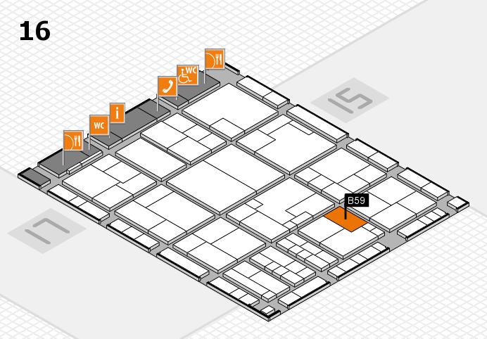 K 2016 hall map (Hall 16): stand B59