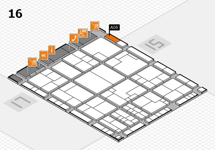 K 2016 hall map (Hall 16): stand A06