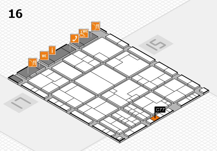 K 2016 hall map (Hall 16): stand C77