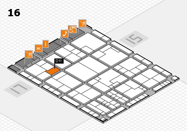 K 2016 hall map (Hall 16): stand D11