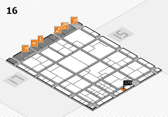 K 2016 hall map (Hall 16): stand C79