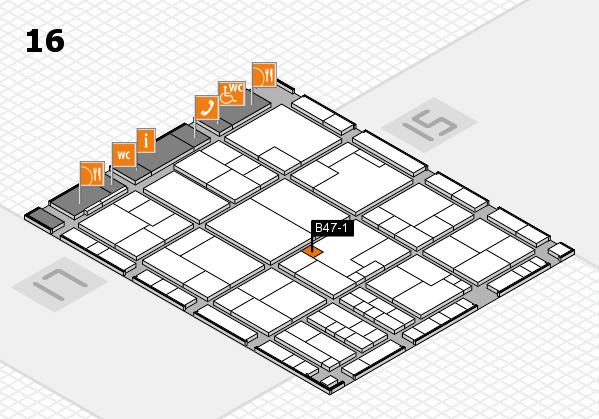K 2016 hall map (Hall 16): stand B47-1