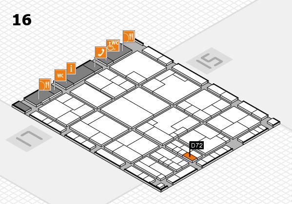 K 2016 hall map (Hall 16): stand D72