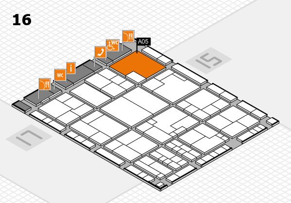 K 2016 Hallenplan (Halle 16): Stand A05